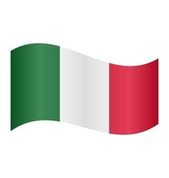 Flag of italy waving vector
