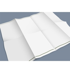 Empty folded paper booklet vector