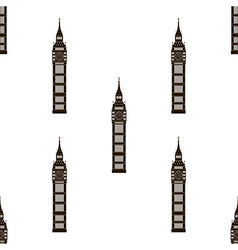 Big ben London seamless background vector image