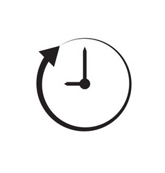 clock and arrow on white background clock and vector image