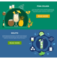 Cocktail Horizontal Banners vector image vector image