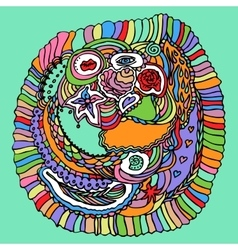 Colorful Zentangle Doodle vector image
