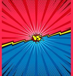 comic book versus template background vector image vector image