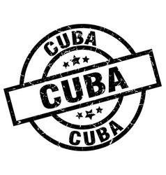 Cuba black round grunge stamp vector