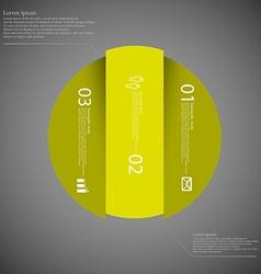 Dark circle template infographic vertically vector