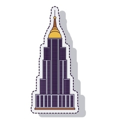 Empire state isolated icon vector