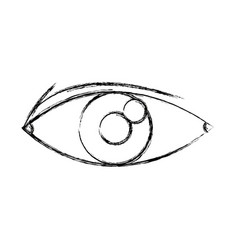 eye look optical vision eyebrow symbol vector image