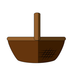 Food basket empty vector