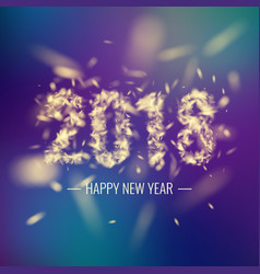 Happy new year 2018 bright poster with an vector