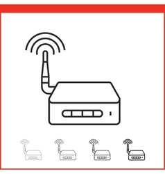 icon of wireless access point vector image vector image