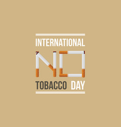 international no tobacco day banner style vector image vector image