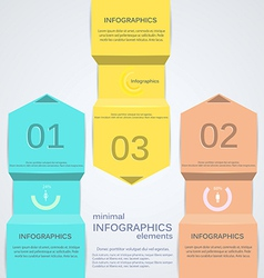 minimal infographics 2 vector image vector image