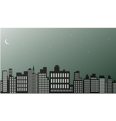 Night city black and white vector image vector image