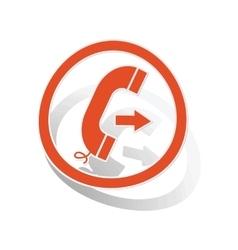 Outgoing call sign sticker orange vector