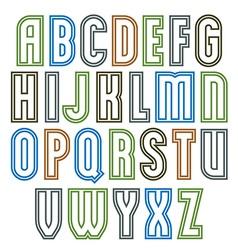 Poster elegant stripy font best for use in poster vector