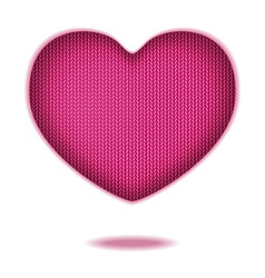 Print of wool heart vector image