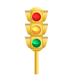 Realistic traffic light vector