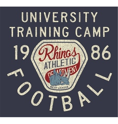 Rhinos athletic department vector