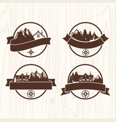 set of logos of the camp vector image