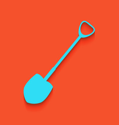 Shovel to work in the garden whitish icon vector