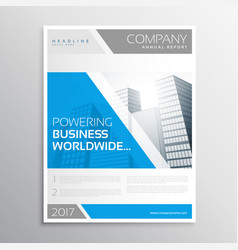 Stylish blue and gray business brochure template vector