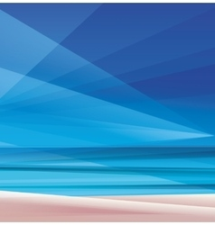 Tropic exotic island ocean beach vector