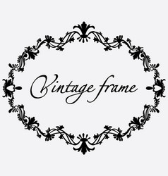 vintage frame flower ornament vector image