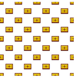 Yellow and brown turkish carpet pattern vector