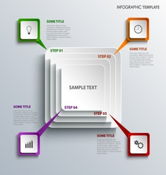 Info graphic with design squares template vector