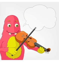 Funny monster violinist vector