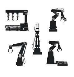 Silhouette collection mechanical robotic vector