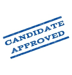 Candidate approved watermark stamp vector