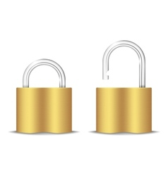 Padlock Icon Open And Closed Isolated On White vector image