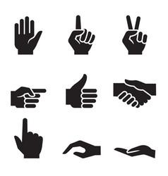 Human hand symbol icon set vector