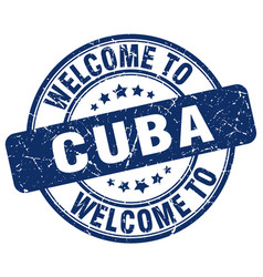 Welcome to cuba vector