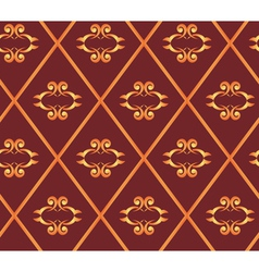 Seamless brown texture with rhombuses vector