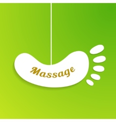 Massage sign and logo isolated foot board hanging vector