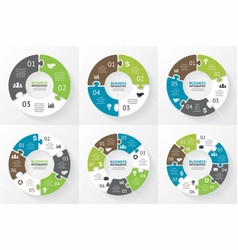 Circle puzzle infographic diagram presentation vector