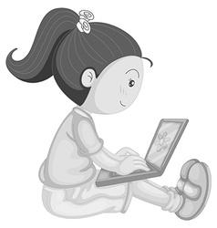 Girl working vector image