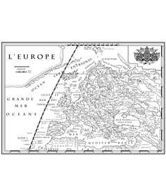 Old european map xviii century vector