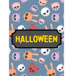 Poster artwork for book in style of halloween vector