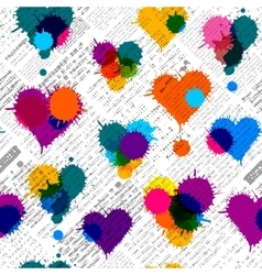 Newspaper hearts background vector