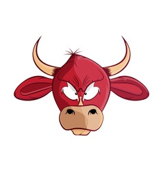 cartoon bull head vector image
