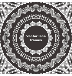 Set of lace frames vector