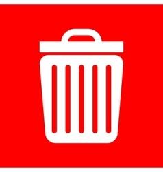 Trash sign vector image