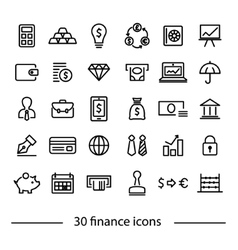 Colliction of finance icons vector
