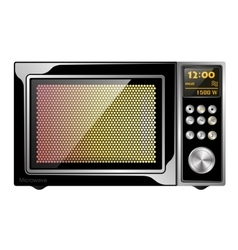 Image quality black enabled microwave oven with vector