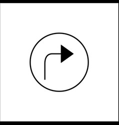 arrow forward solid icon mobile sign and next vector image