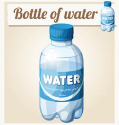 Bottle of water cartoon icon vector