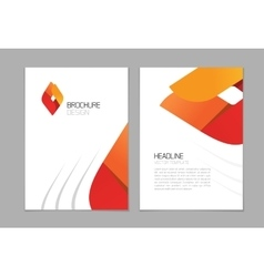 Brochure flyer design A4 booklet layout vector image vector image